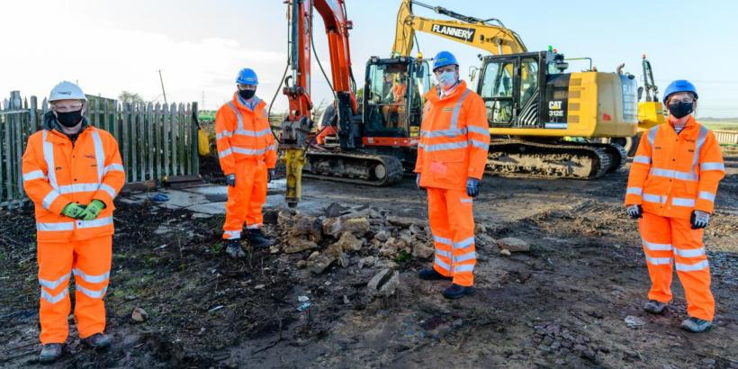 Mayor joins workforce on site of Soham's new station Image